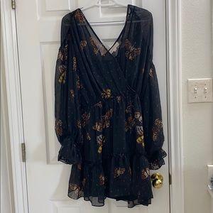 Butterfly Print Mini Dress